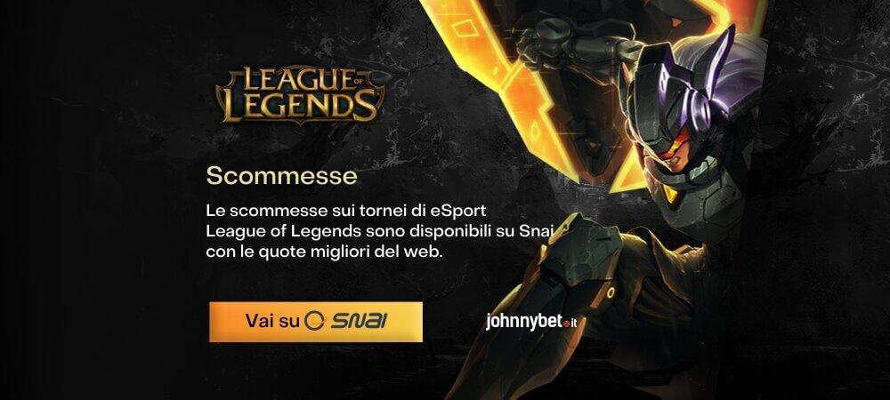 Scommesse eSport League of Legends