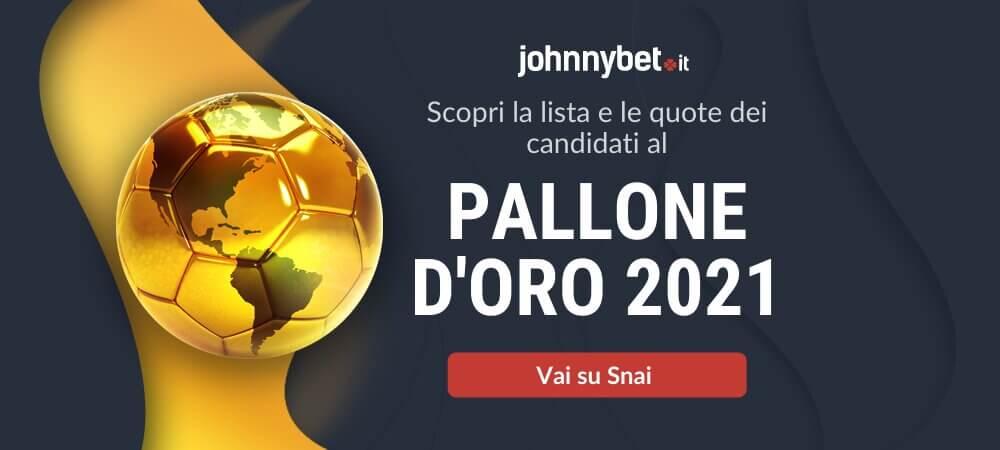 Pronostico Vincitore del Pallone d'Oro 2021