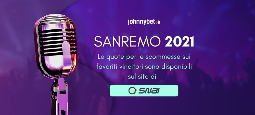 Quote Scommesse Sanremo 2021