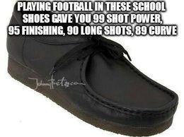 School shoes football playing memes
