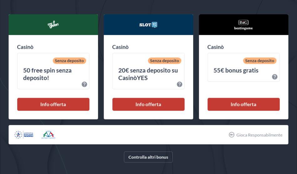 Slot Machine Online Bonus Senza Deposito