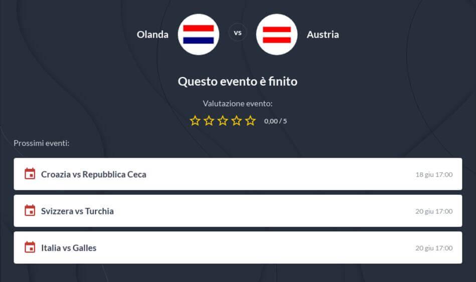 Pronostico Olanda - Austria risultato esatto